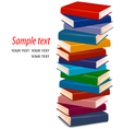 stack of colorful books vector image