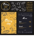 Bakery corporate identity Bakery shop set vector image