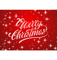 Beautiful text design of Merry Christmas on red vector image