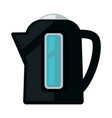 black colored kettle vector image