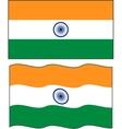 Flat and waving Indian Flag vector image