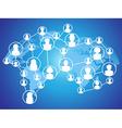 global technology social network vector image