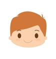 happy boy character avatar vector image