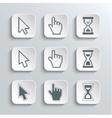 Pixel cursors Web Icons Set vector image