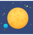 Planet in space vector image