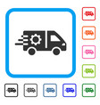 service car framed icon vector image