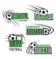 soccer football tournament icons set vector image