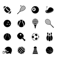 Sport icons set black vector image