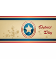 Patriot Day with blue and red stripes vector image