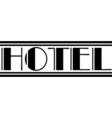 Retro Hotel Logo vector image vector image