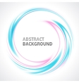 Abstract light blue and pink swirl circle bright vector image