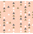 Pink hipster geometrical seamless pattern vector image
