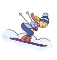 Doodle skier vector image