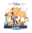 Fishing Vintage Icons Composition vector image