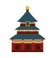 Indian temple with arch cartoon building vector image