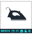 Iron icon flat vector image