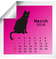 March 2016 Calendar vector image