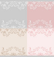 wedding lace background vector image