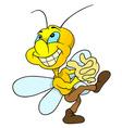 Happy Yellow Bug vector image