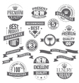Set of labels and ribbons for sale vector image vector image