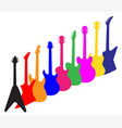 modern guitar silhouettes vector image