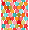 hexagon multicolored seamless pattern vector image vector image