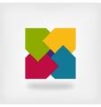 colored square logo symbol vector image