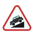 Slope ahead vector image