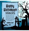Graveyard and zombie hand vector image