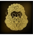 Golden beard and mustache of Santa Claus vector image