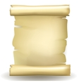 Ancient blank aged worn paper scroll vector image