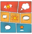 blank speech bubbles vector image