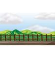 bridge mountain lookout vector image