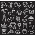Food outline black vector image