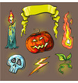 halloween stickershalftone lights vector image