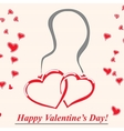 pendent with two hearts vector image
