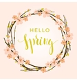 spring background with flowering branches vector image