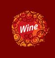 wine logo imprint vector image