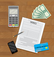 taxation transaction concept vector image
