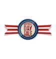 independence day sale patriotic badge vector image