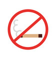 no smoking isolated icon vector image