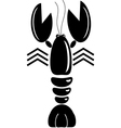 Lobster isolated on white background vector image vector image