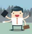 Businessman hard work vector image