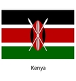 Flag of the country kenya vector image