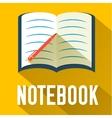 flat notebook design concept vector image