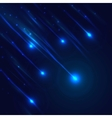 Shining blue meteorites vector image