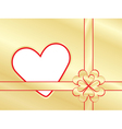 present wrapper with valentine vector image