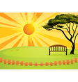 Sunny Park Bench vector image