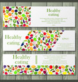 healthy life style banners vector image