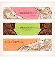 set of floral retro banners vector image vector image